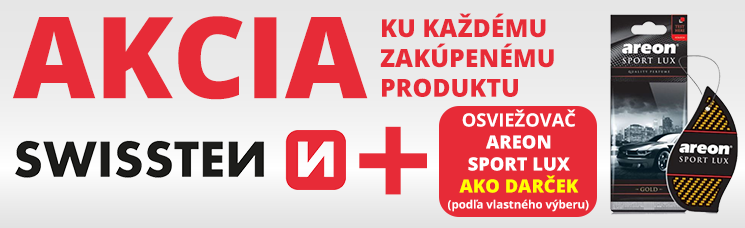 Ku každému zakúpenému produktu SWISSTEN dostaneš osviežovač Sport Lux grátis podľa vlastného výberu