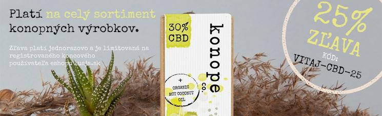 Zľava -25% na celý sortiment konopných výrobkov