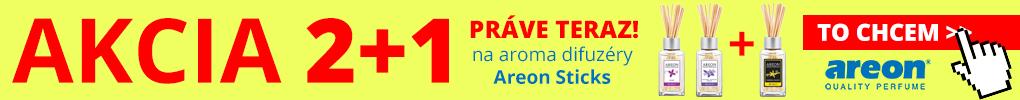 Práve teraz prebieha AKCIA na obľúbené aroma difuzéry Areon Sticks 2+1!