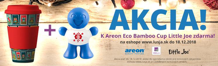 AKCIA! K Areon Eco Bamboo Cup osviežovač Little Joe zdarma! Platí do 18.12.2018
