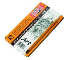 Ceruza grafitová 1502/II mäkká ART 8B-2H/sada 12