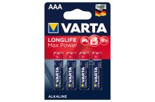 VARTA Longlife Max Power AAA LR03 1,5V (4ks)
