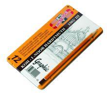 Ceruza grafitová 1502/III stredná GRAPHIC 5B-5H/sada 12