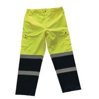Reflexné nohavice Manutan, žlté/modré, XL