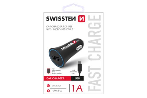 Swissten CL Adapter na USB 1A power+kabel micro USB